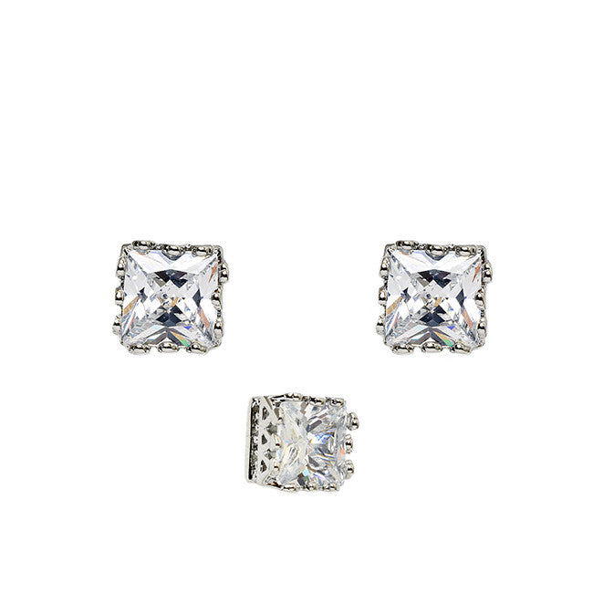 Pretty Princess Stud Earrings - Jewelry Buzz Box  - 2