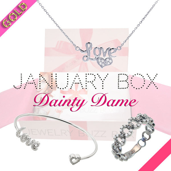 January Dainty Dame Gold Box - Jewelry Buzz Box  - 1