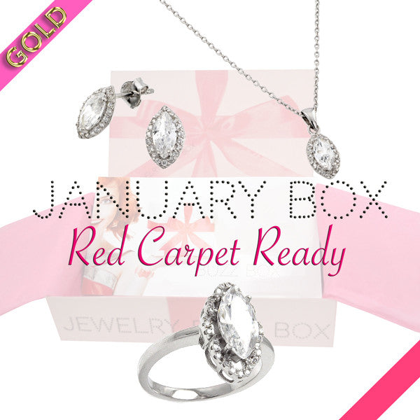 January Red Carpet Gold Box - Jewelry Buzz Box  - 1