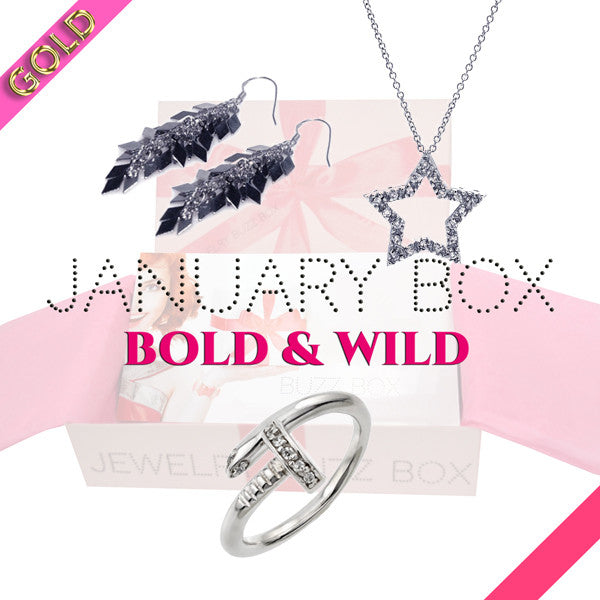 January Bold & Wild Gold Box - Jewelry Buzz Box  - 1