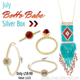 July Boho Babe Silver Box - Jewelry Buzz Box  - 1