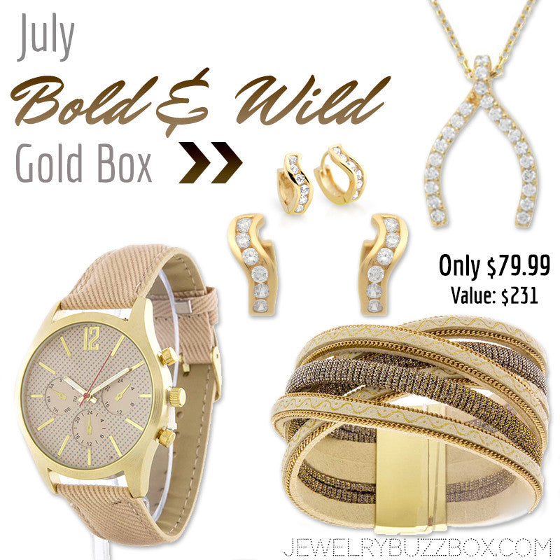 July Bold & Wild Gold Box - Jewelry Buzz Box  - 1