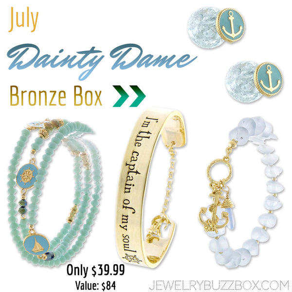 July Dainty Dame Bronze Box - Jewelry Buzz Box  - 1