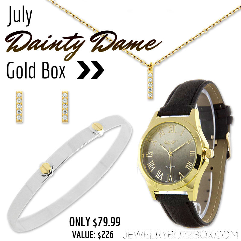 July Dainty Dame Gold Box - Jewelry Buzz Box  - 1