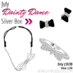 July Dainty Dame Silver Box - Jewelry Buzz Box  - 1