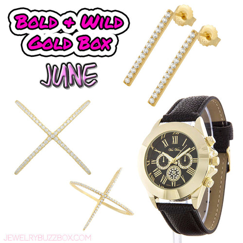 June Bold & WIld Gold Box - Jewelry Buzz Box  - 1