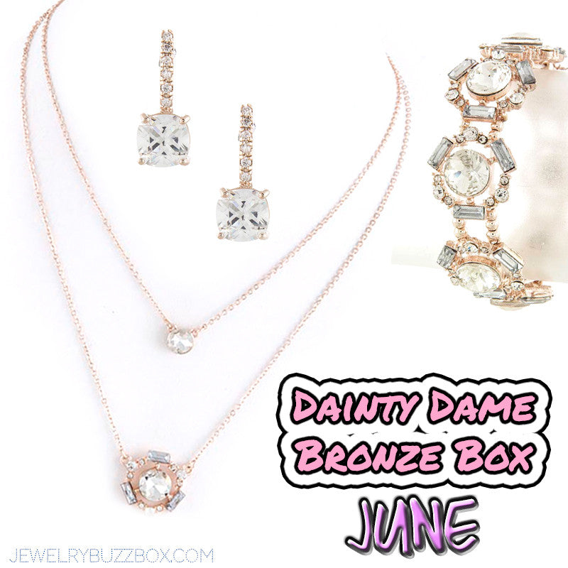 June Dainty Dame Bronze Box - Jewelry Buzz Box  - 1