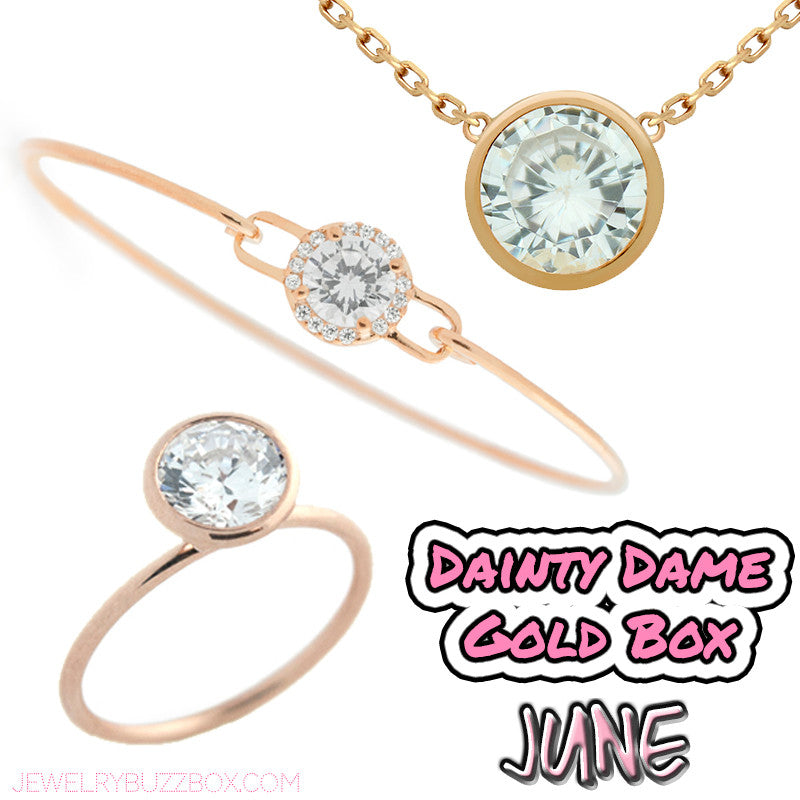 June Dainty Dame Gold Box - Jewelry Buzz Box  - 1