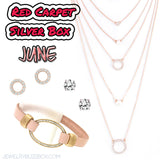 June Red Carpet Silver Box - Jewelry Buzz Box  - 1