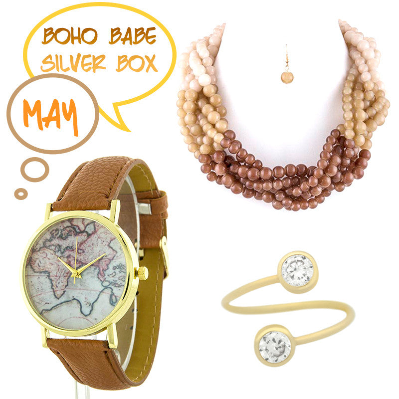 May Boho Babe Silver Box - Jewelry Buzz Box  - 1