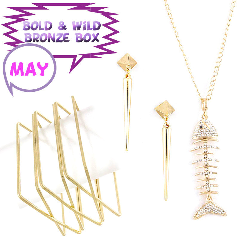 May Bold & Wild Bronze Box - Jewelry Buzz Box  - 1