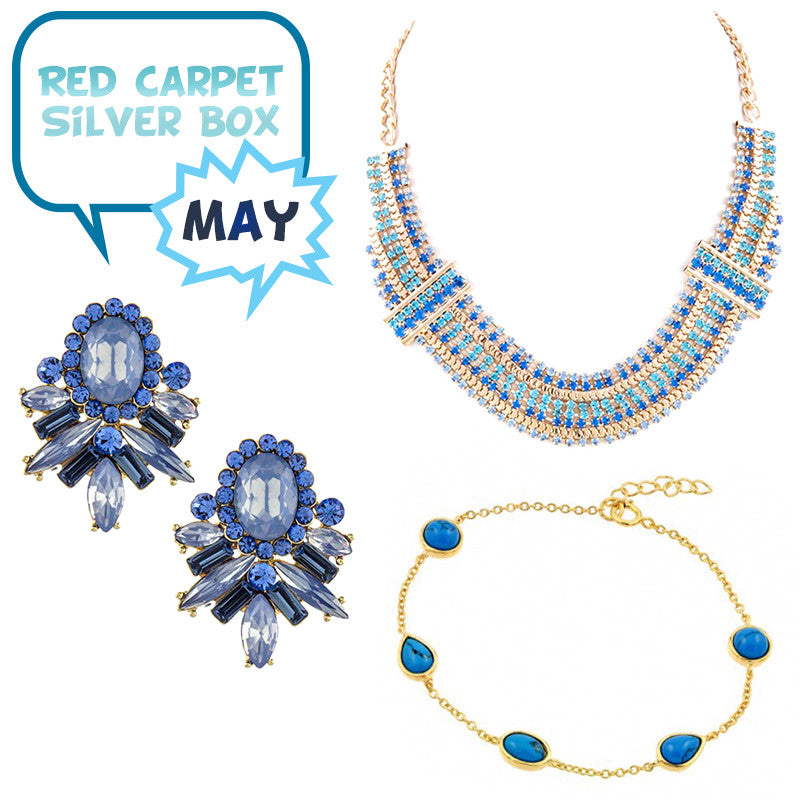May Red Carpet Silver Box - Jewelry Buzz Box  - 1