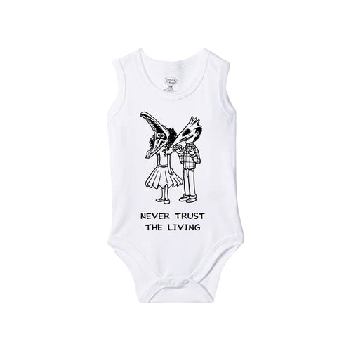 Never Trust The Living Baby Onesie