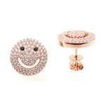 Smiley Face Stud Earrings - Jewelry Buzz Box  - 2