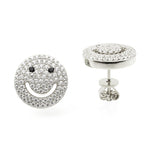 Smiley Face Stud Earrings - Jewelry Buzz Box  - 3