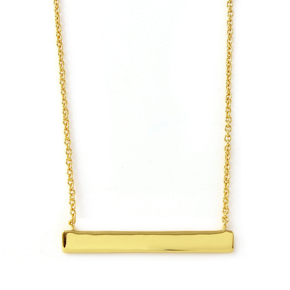 Polished Bar Necklace - Jewelry Buzz Box  - 1