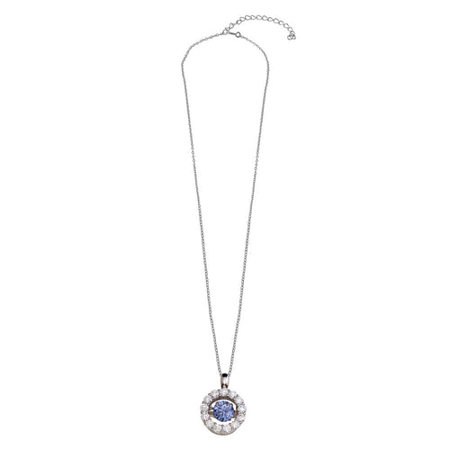 Tanzanite Inspired Dancing Pendant Necklace