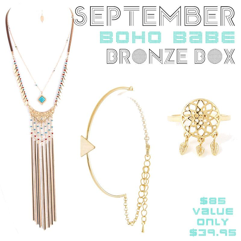 September Boho Babe Bronze Box - Jewelry Buzz Box  - 1