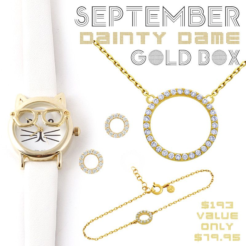 September Dainty Dame Gold Box - Jewelry Buzz Box  - 1