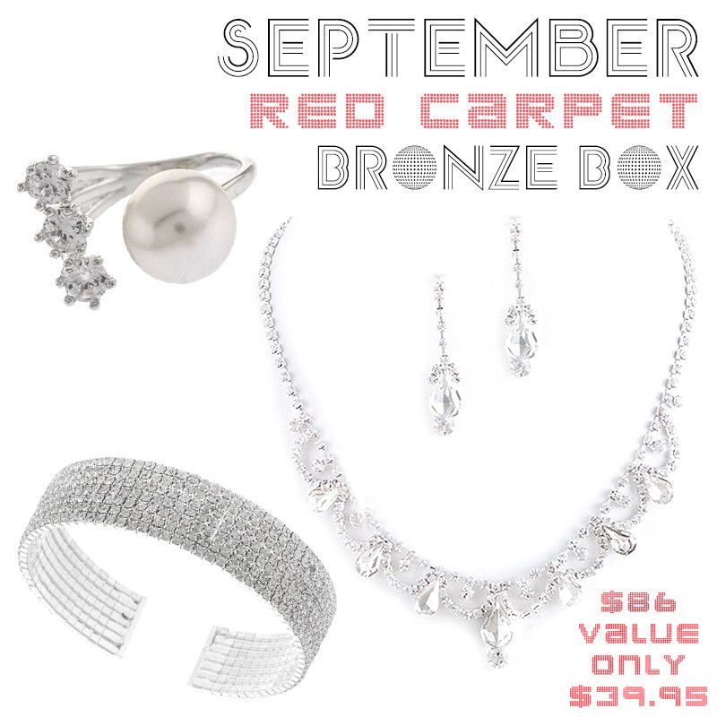 September Red Carpet Bronze Box - Jewelry Buzz Box  - 1