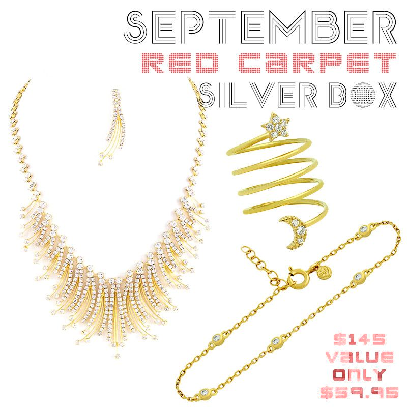 September Red Carpet Silver Box - Jewelry Buzz Box  - 1