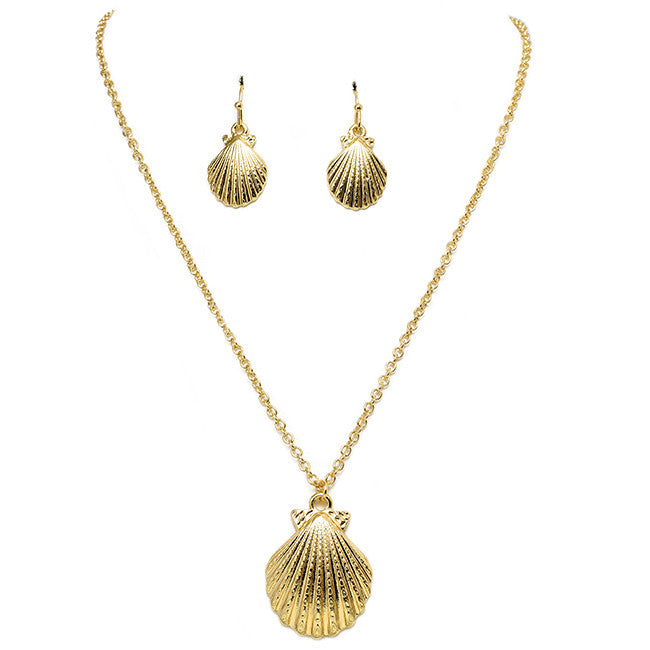 Shore Shell Necklace Set - Jewelry Buzz Box  - 2