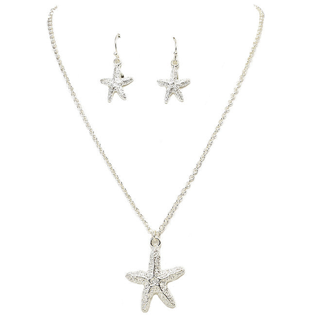 Polished Starfish Pendant Set - Jewelry Buzz Box  - 2