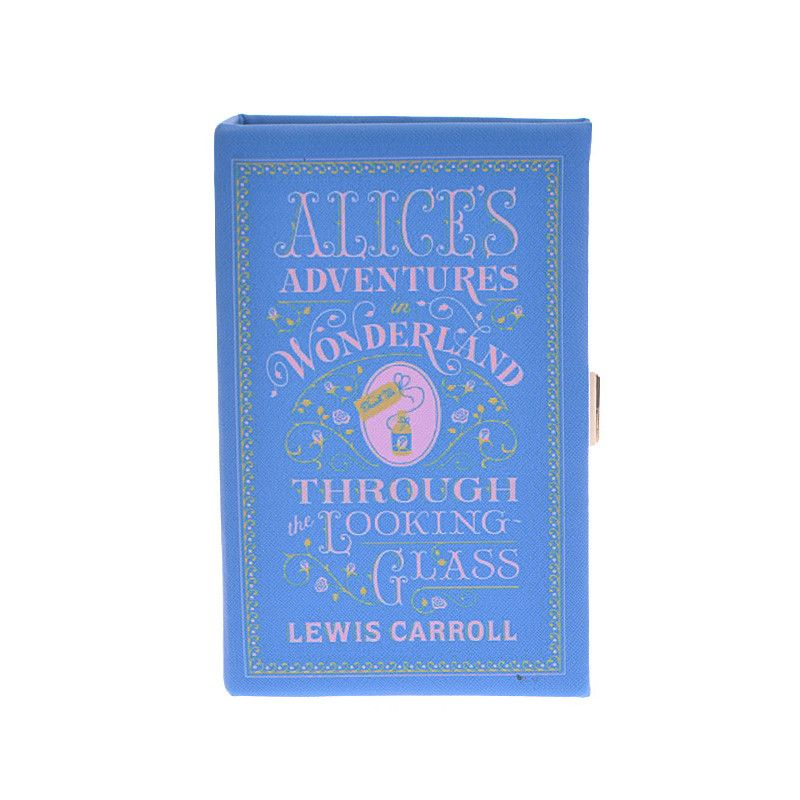 Alices Adventures in Wonderland Book Clutch - Jewelry Buzz Box  - 1