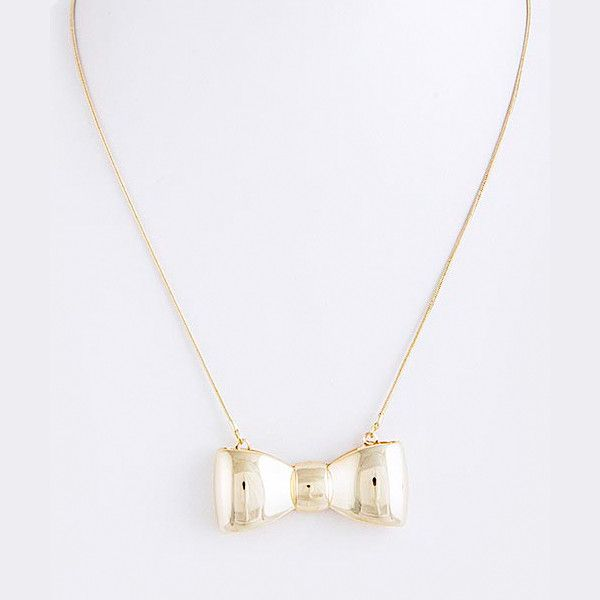 Babe Bow Necklace - Jewelry Buzz Box  - 2