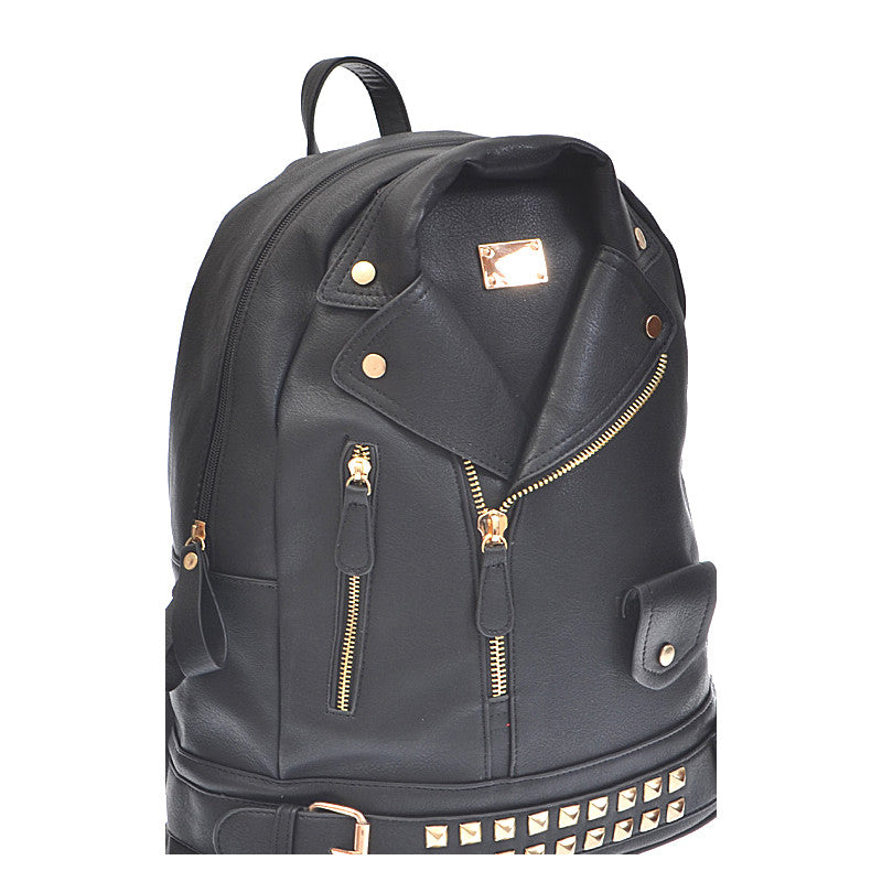 Leather Jacket Backpack - Jewelry Buzz Box  - 4