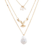 Free Falling Necklace and Earring Set - Jewelry Buzz Box  - 1