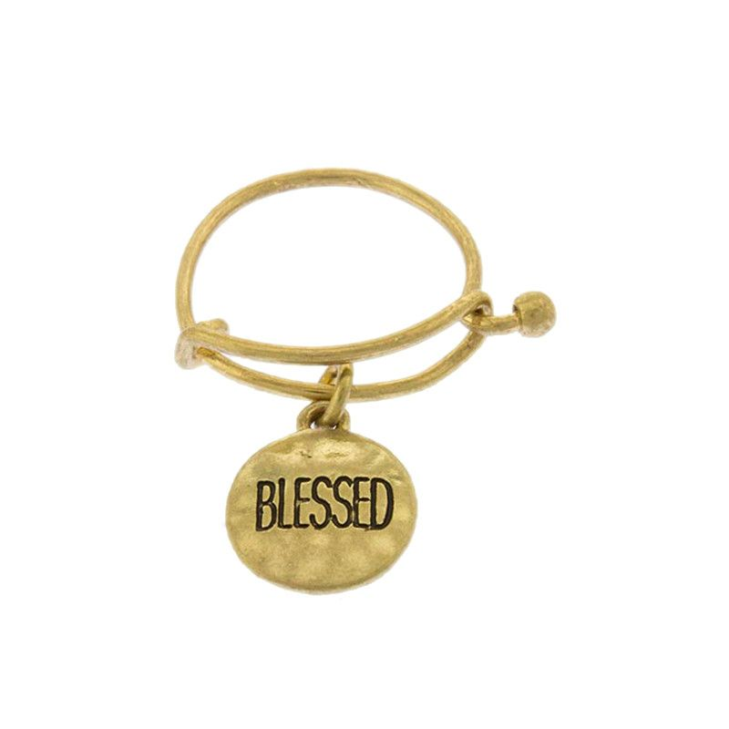 Blessed Disk Ring - Jewelry Buzz Box  - 1