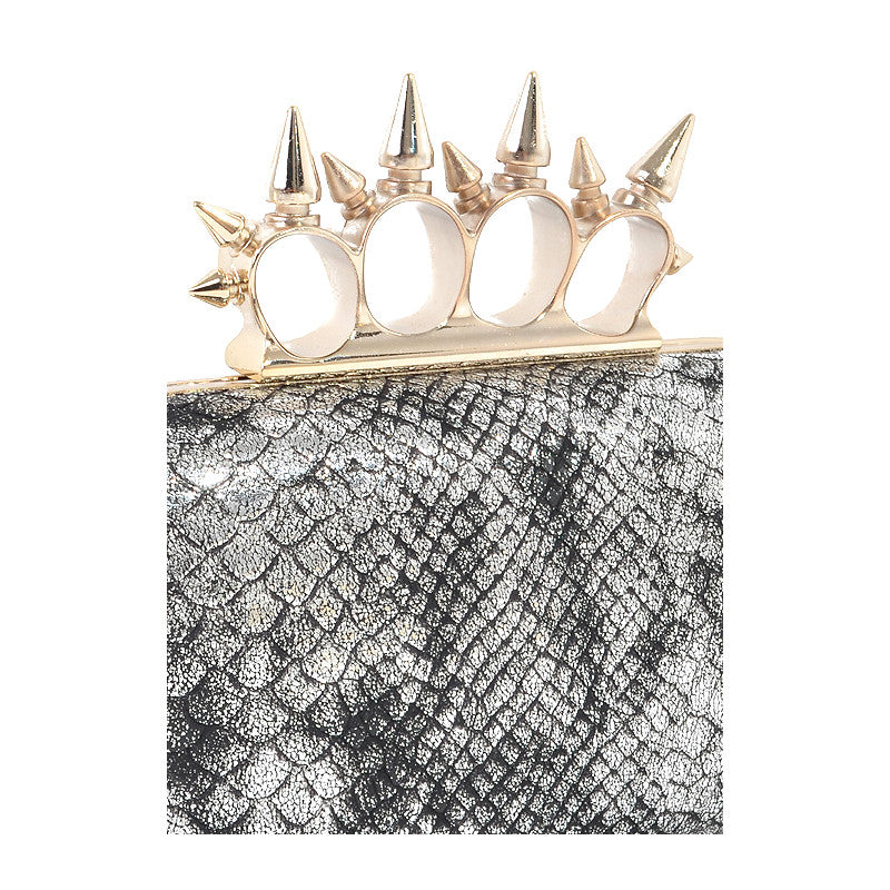 Snake & Spike Clutch - Jewelry Buzz Box  - 6