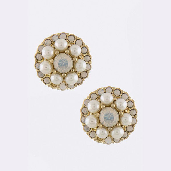 Pearl Blossom Studs - Jewelry Buzz Box  - 2