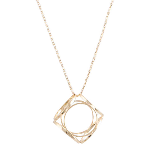Cube Necklace - Jewelry Buzz Box  - 1