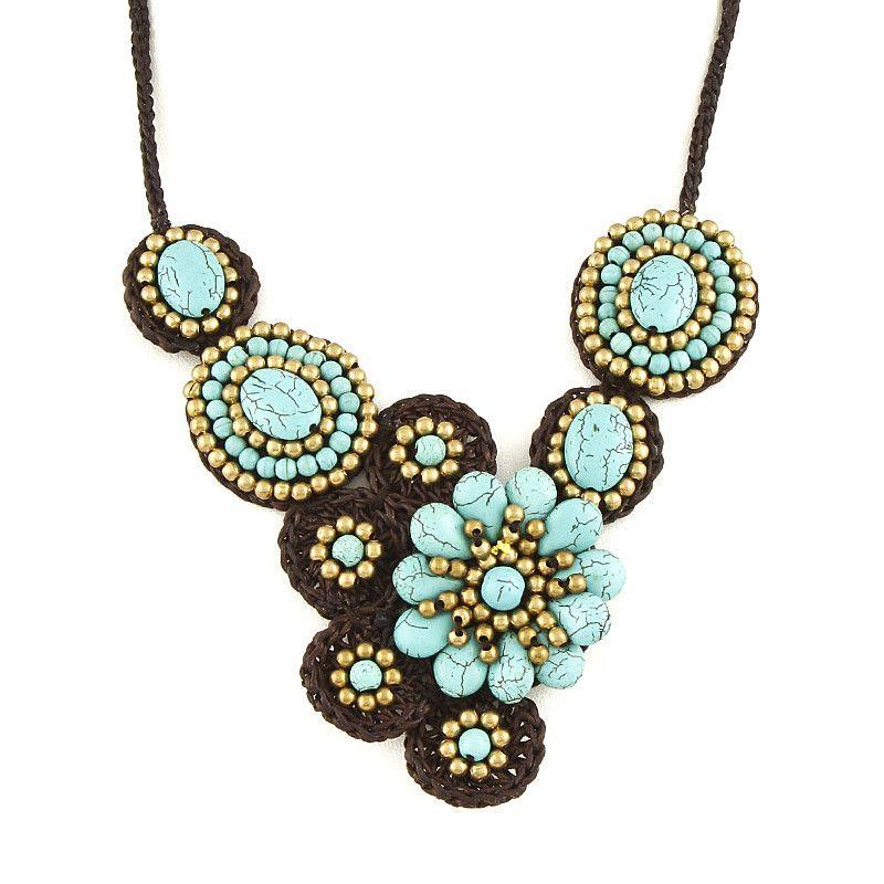 Boho Baby Blue Necklace - Jewelry Buzz Box  - 1