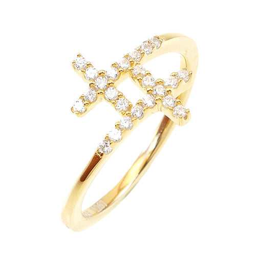 Dainty Cross Ring - Jewelry Buzz Box