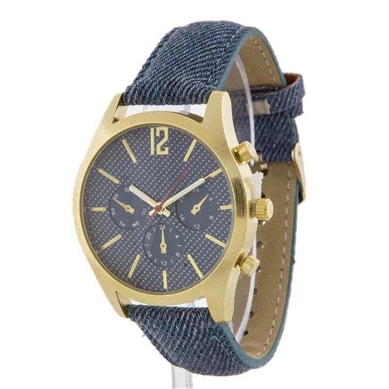Denim On Denim Watch - Jewelry Buzz Box  - 2