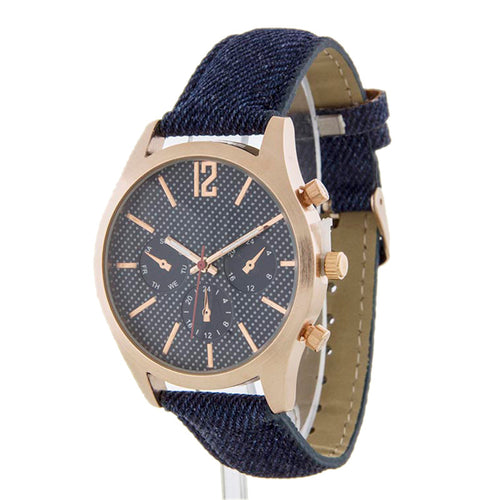 Denim On Denim Watch - Jewelry Buzz Box  - 1