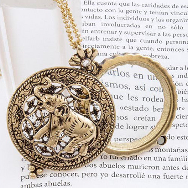 Elephant Magnify Necklace - Jewelry Buzz Box  - 4