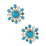 Floral Burst Earrings - Jewelry Buzz Box  - 1