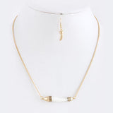 Horn Tusk Necklace Set - Jewelry Buzz Box  - 5