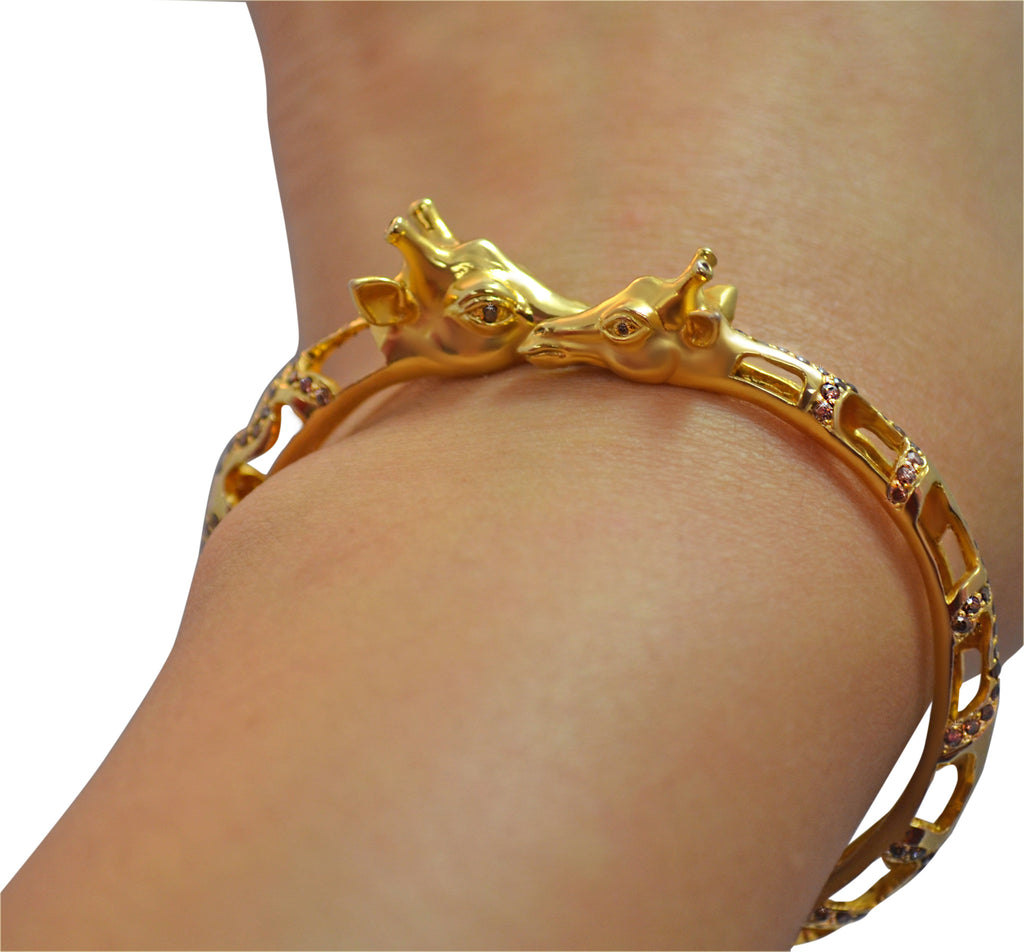 Giraffe Bangle Bracelet - Jewelry Buzz Box  - 4
