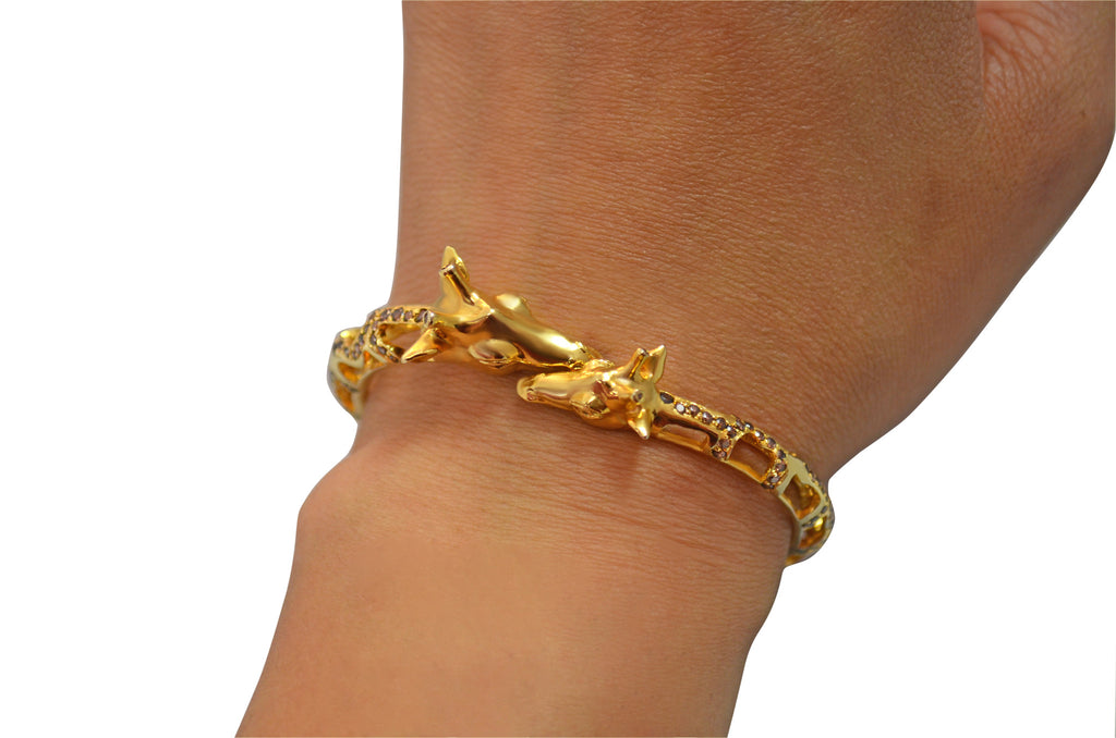 Giraffe Bangle Bracelet - Jewelry Buzz Box  - 3
