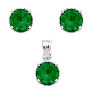 Emerald Green BirthStone Earring - Jewelry Buzz Box  - 2