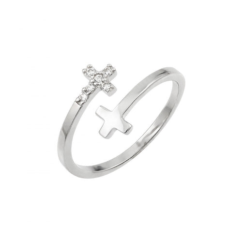 Double Cross Ring - Jewelry Buzz Box