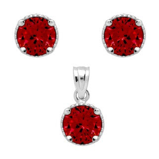 Garnet Birthstone Earring - Jewelry Buzz Box  - 2