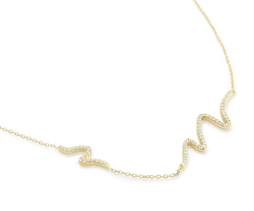 Great Wave Necklace - Jewelry Buzz Box  - 1