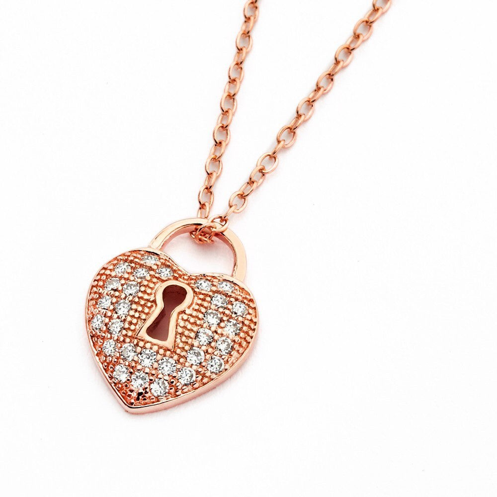 Heart Lock Necklace - Jewelry Buzz Box