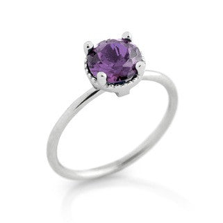 February Amethyst Birthstone Ring - Jewelry Buzz Box